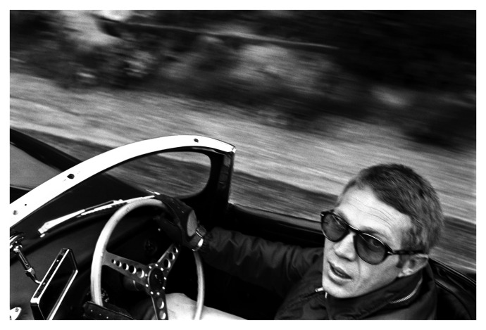 Persol limited edition Steve McQueen PO714 folding sunglasses. Photo: William Claxton, courtesy Demont Photo Mgmt