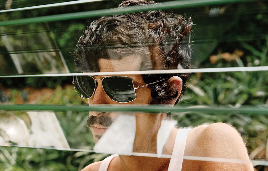 Oliver Peoples Eyewear 2011 ad campaign featuring Devendra Banhart wearing Jack One