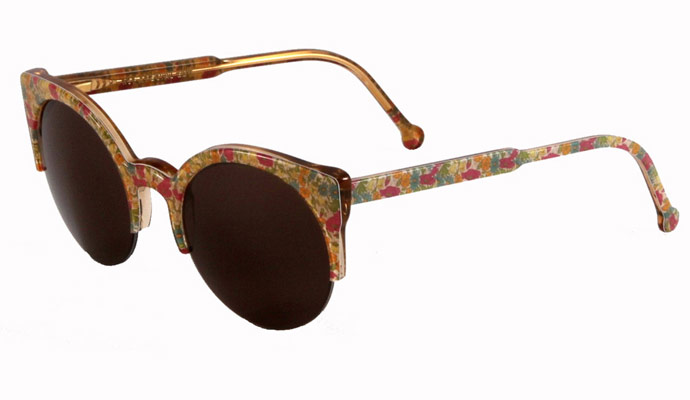 Retro Super Future Liberty print limited edition Lucia sunglasses for spring/summer 2011: Poppy & Daisy
