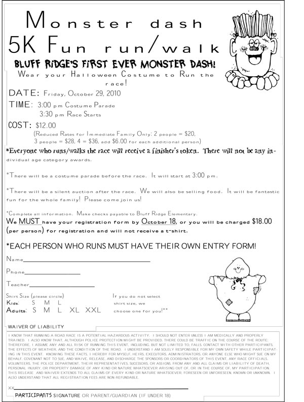 Halloween Sign Up Sheet Here is the sign up sheet (1