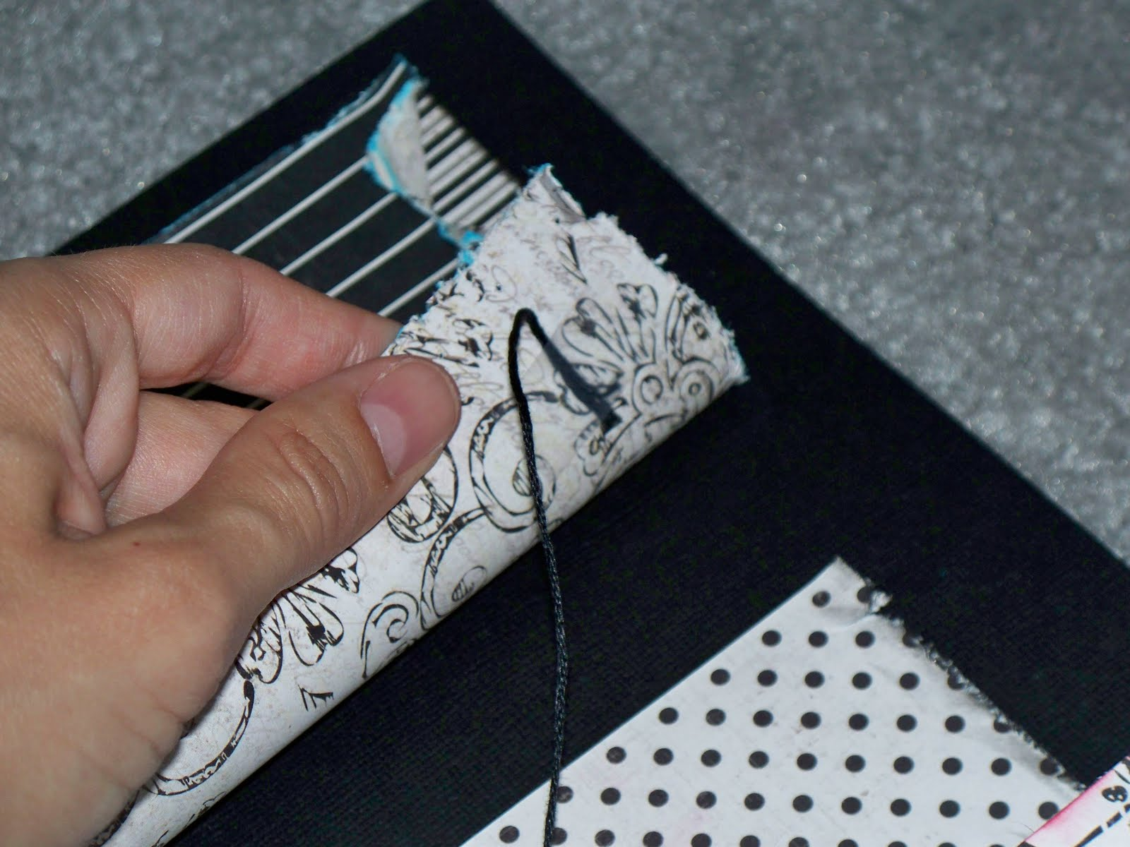 how to make lacing holes