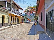 La calle de Copan Ruinas