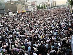 تظاهرات میلیونی مردم ایران درتهران دوشنبه 25 خرداد 88