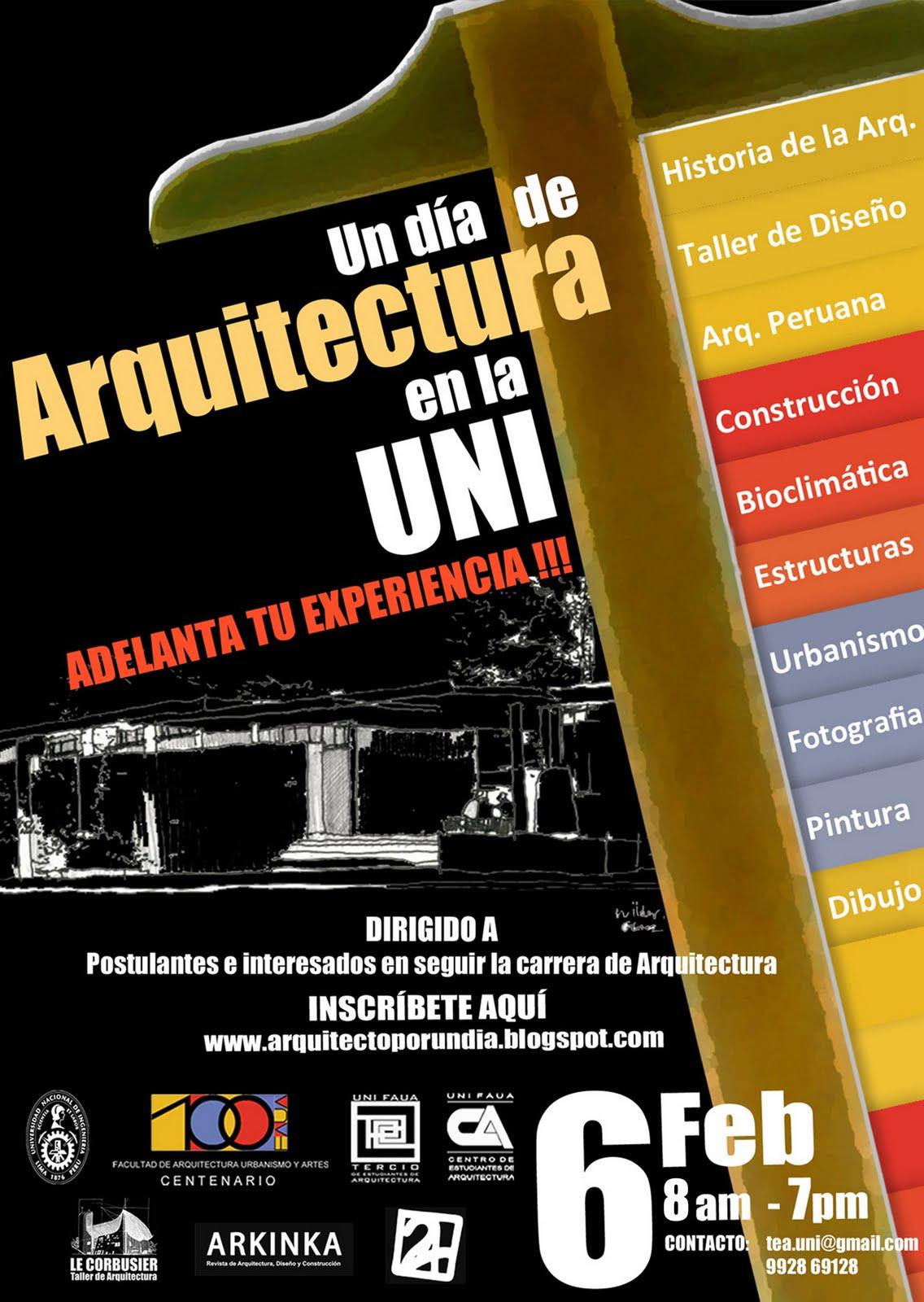 Bit cora arquitectura peruana un d a de arquitectura en for Materias de la carrera arquitectura