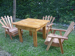 Muebles de jardín.