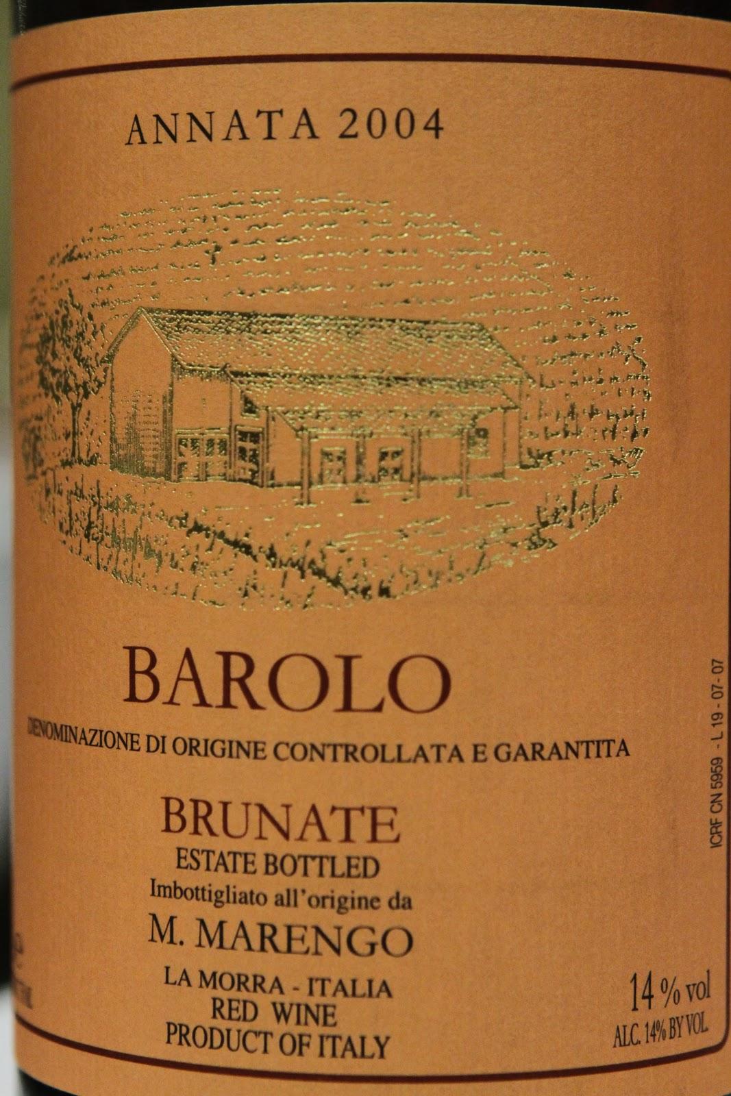 Barolo Brunate 2004 2004 Marengo Barolo Brunate