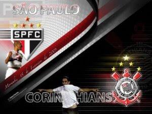 Clássico entre Corinthians e São Paulo no campeonato brasileiro