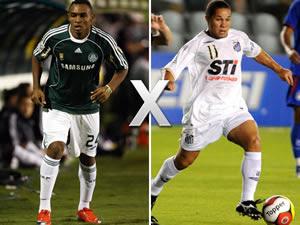 Clássico entre Palmeiras e Santos