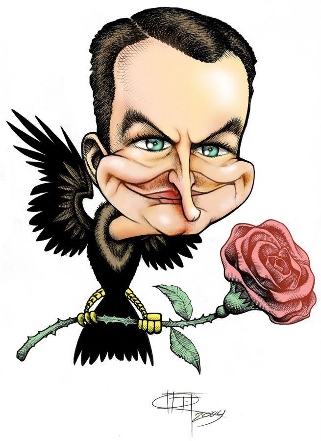 Resultado de imagen para rodriguez zapatero, caricatura
