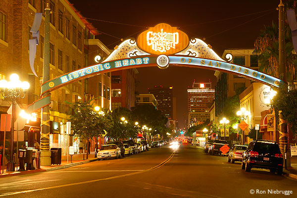 Downtown San Diego Gaslamp Quarter ~ Gun Journey