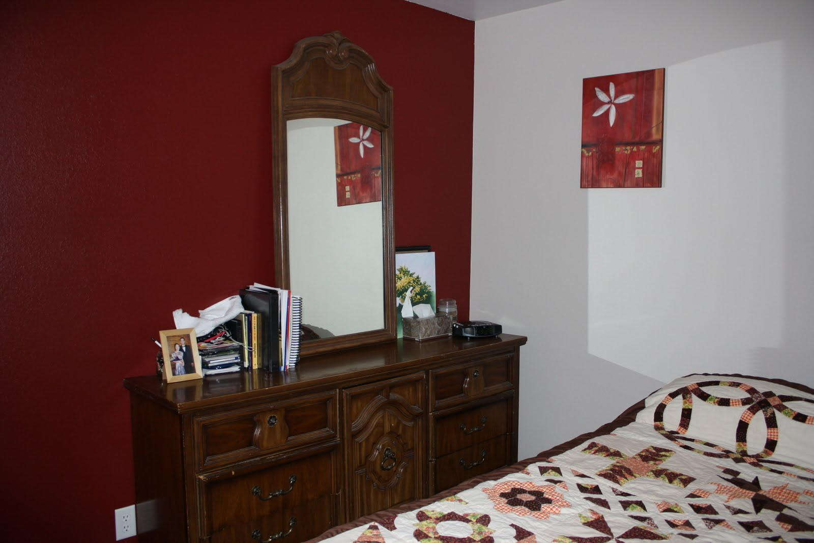 Red accent wall bedroom viewing gallery - Bedroom with red accent wall ...