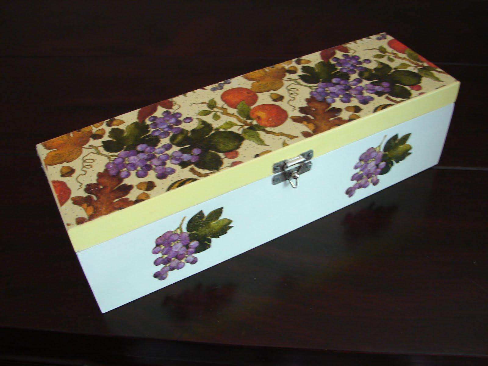 Bell'Arte Arte em madeira e tecido: Caixa para vinho #764026 1600x1200