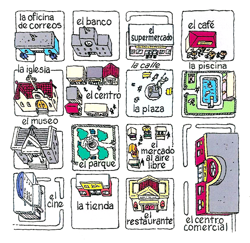 Spanish at amazon lugares en la ciudad - Como hacer un plano de una casa ...