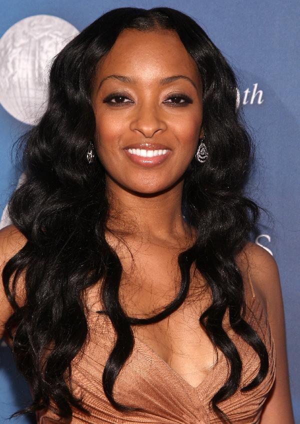 African american new hairstyle: curly, long, african, black hair, cornrows,