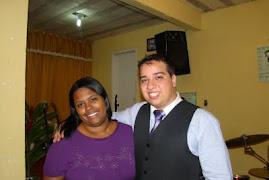 Marcelo Melo e a cantora Marcela!