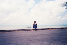 Eluthera, Bahamas. School girls walking home.