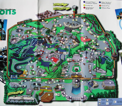 six flags great america map 2011. six flags great america