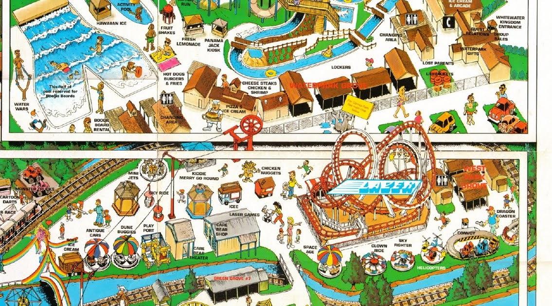 NewsPlusNotes: Dorney Park 1990 Map Part 2 on