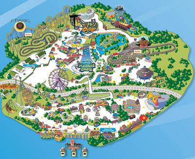 Six Flags Kentucky Kingdom Map Map For Six Flags Kentucky