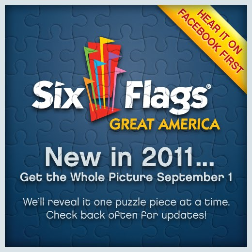 six flags great america park map. Six Flags Great America Looks