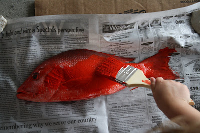 Red fish blue fish fish printing dim sum bagels and for Big fish printing