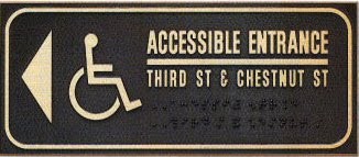 restroom directional sign. The Signage Should Be Placed In A Location That Does Not Required Person To Retrace Approach Route From Inaccessible Entrance. Restroom Directional Sign .