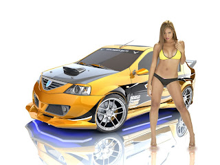 New Hybrid Car And Girls