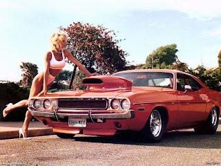 car retro and girls