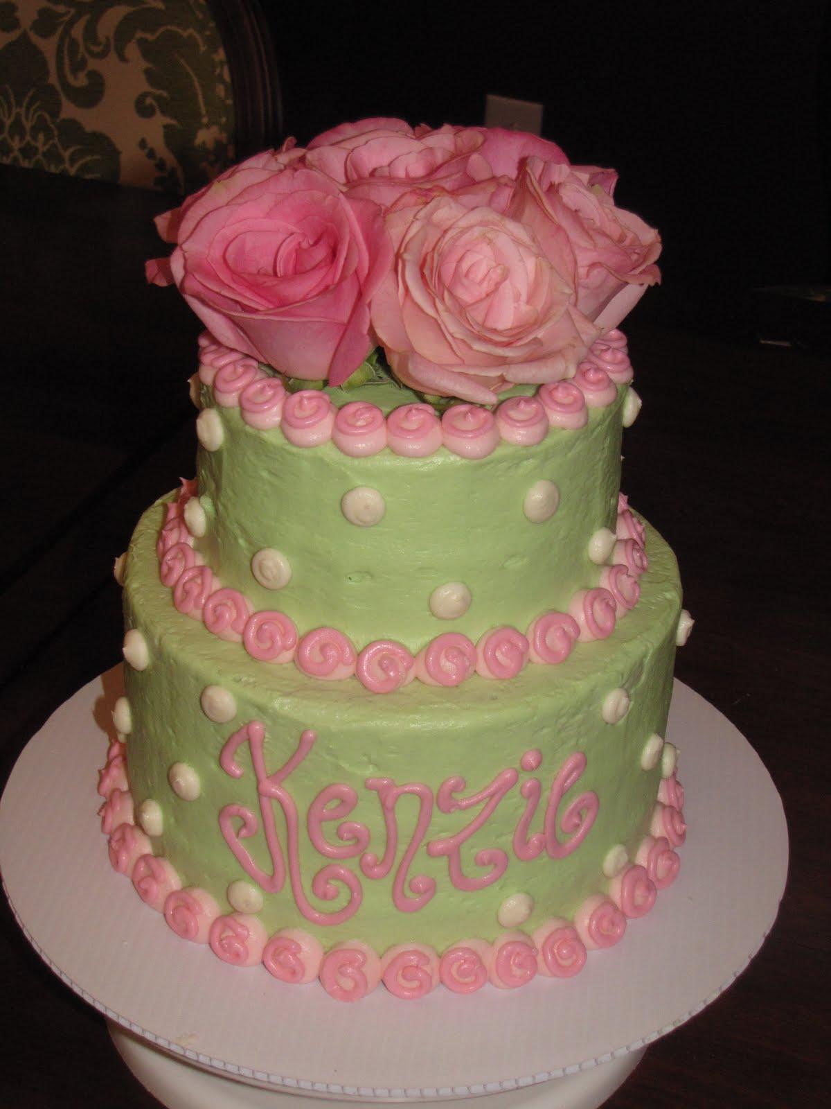 Simply Charming Cakes Shabby Chic Birthday Cake