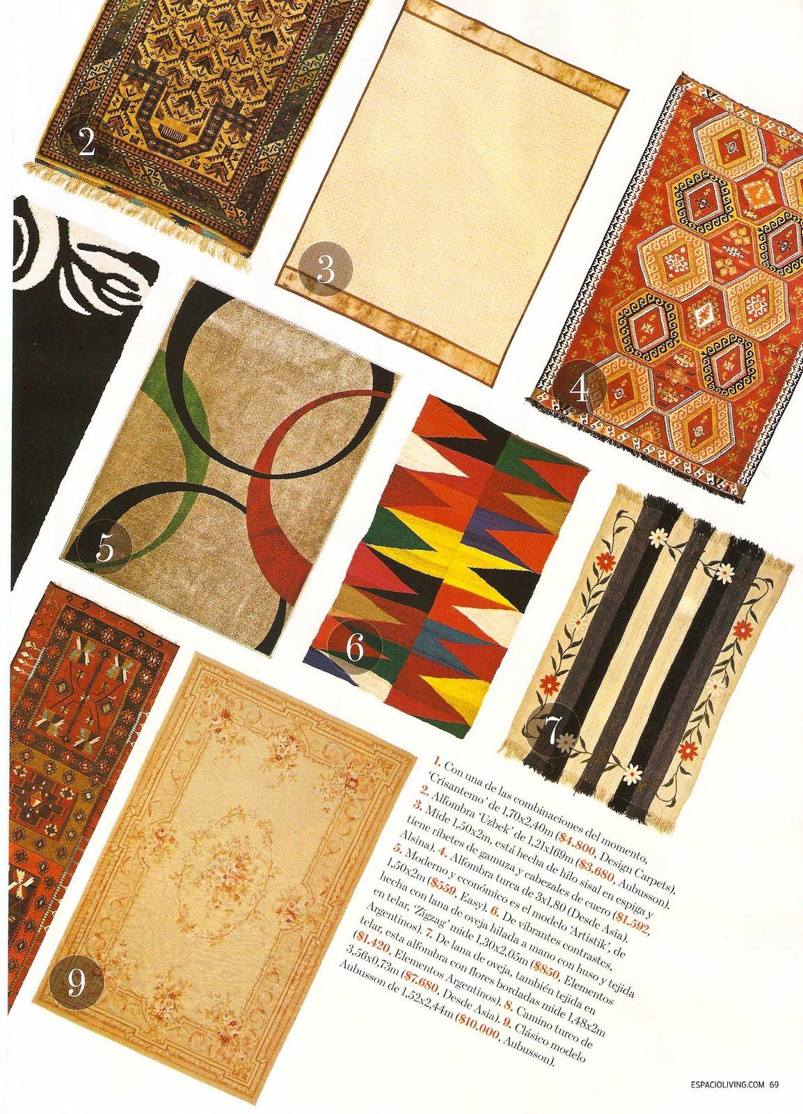 Puerta al sur revista living especial alfombras 25 for Alfombras de living
