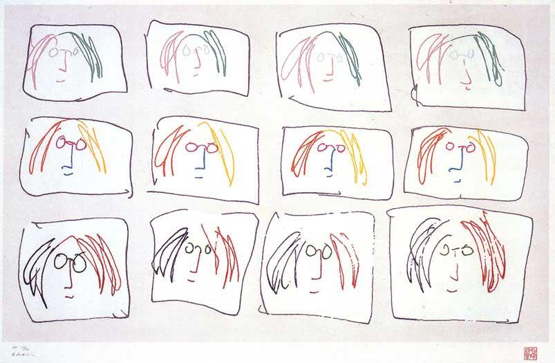 Line Drawing John Lennon : W h a t e v r she wants john lennon