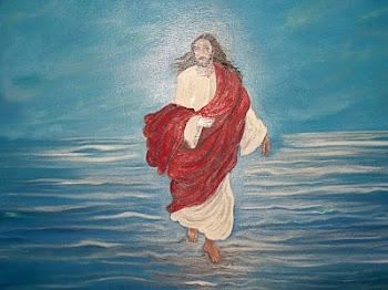 Νότα Κυμοθόη Ο Χριστός περπατάει στα κύματα Ελαιογραφία