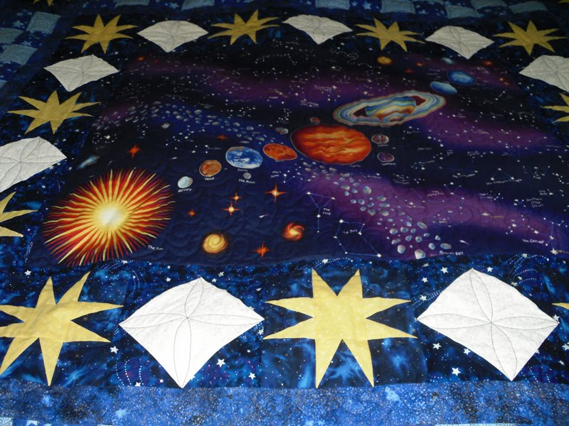 Beaquilter solar system panel quilt for my son for Solar system quilt pattern
