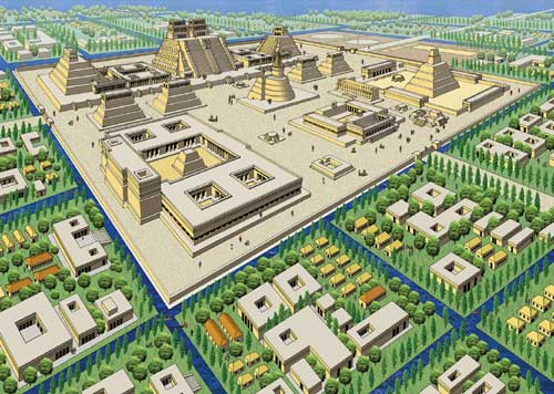 Os templos de Tenochtitlan