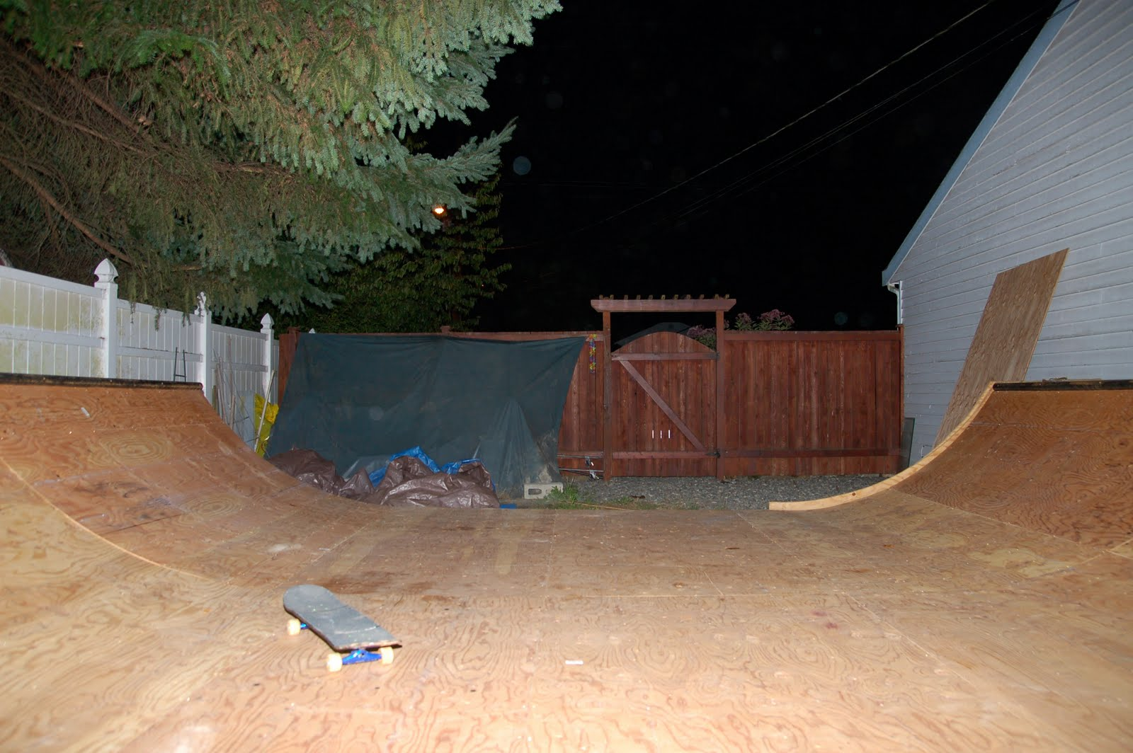secret mini halfpipe somewhere in a small town north of Seattle