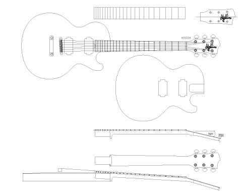 Blog coming soon the highline single cut for Les paul top carving template