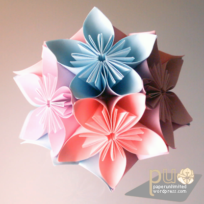 Creatively inspired randomly artistic how to make a kusudama flower 30 pieces of square sticky notes or square shaped pieces glue preferably hot glue bc it dries faster mightylinksfo