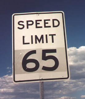 Drive the speed limit - Image courtesy of http://4.bp.blogspot.com/_canj9ERLjb4/R6IylczSfZI/AAAAAAAAJOg/XTphNWrLyaA/s320/us-006_speed_limit_65.jpg