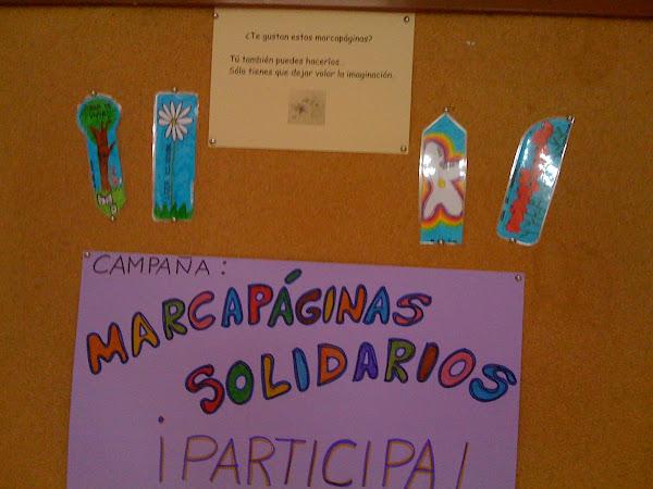Marcapáginas solidario