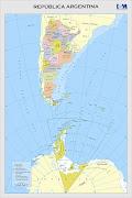 Nuestro país: la República Argentina repãºblica argentina mapa bicontinental