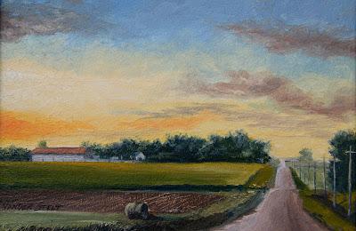 Paint Gravel Road Gravel Road at Dusk