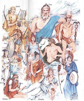 Resultado de imagem para os deuses do olimpo