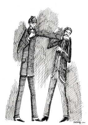 The First Is Inspired By Sidney Pagets Original Illustration For Adventure Of Solitary Cyclist Depicting Sherlock Holmes Socking Odious Mr