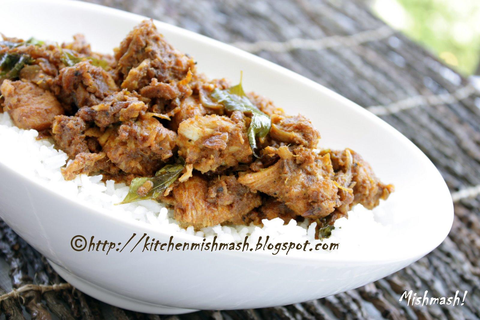 Erachi Olathiyathu/Sauteed Chicken Fry