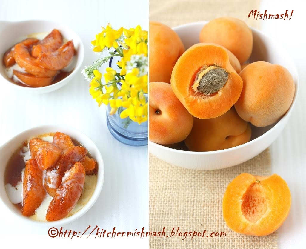 Roasted Apricots and Creme Fraiche