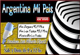 Programa-Argentina mi país-EN VIVO-Fm Zingara 90.9 MHZ-los sábados y domingos-de 09.00 a 12:00 hs