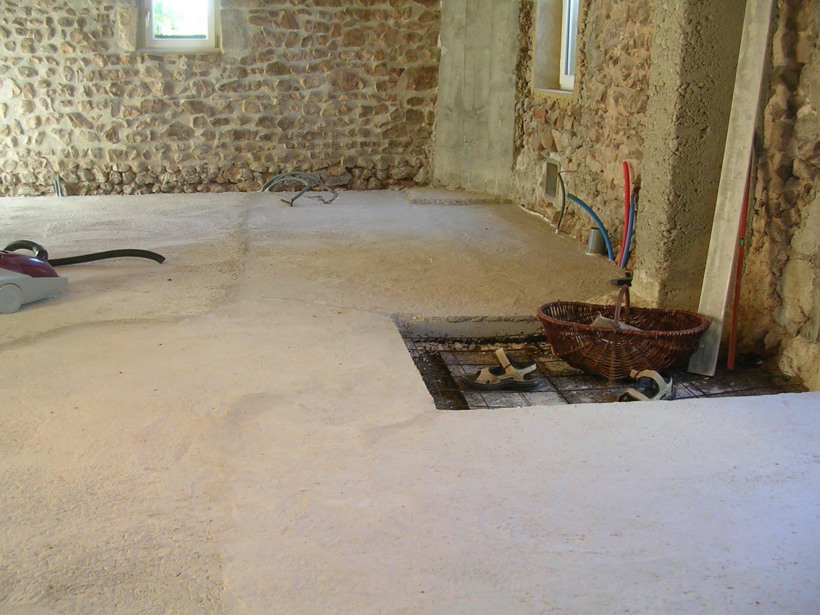 la grange du pain chaud r alisation de la dalle de chaux. Black Bedroom Furniture Sets. Home Design Ideas