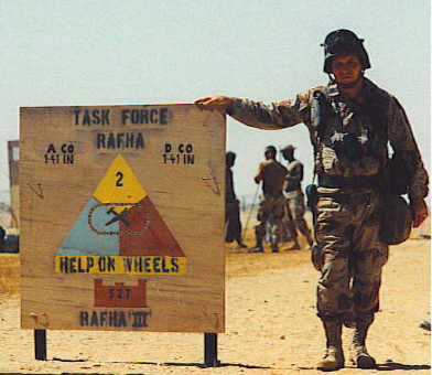 Me in Operation Desert Storm - Rapha, Saudi Arabia