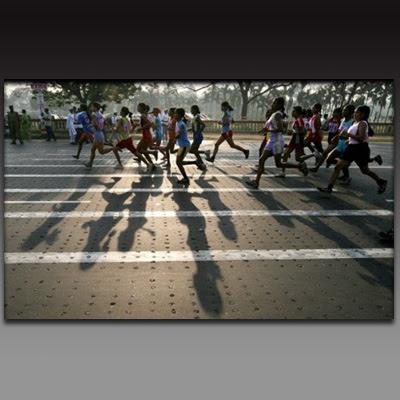 Women's Racing at Airtel Kolkata Marathon