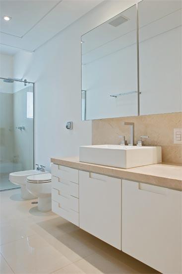 Banheiros 10 modelos modernos de diversos tamanhos ~ Passeo Condomínio Club -> Banheiros Modernos Pisos
